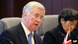 Menteri Pertahanan Inggris Michael Fallon (foto: dok).