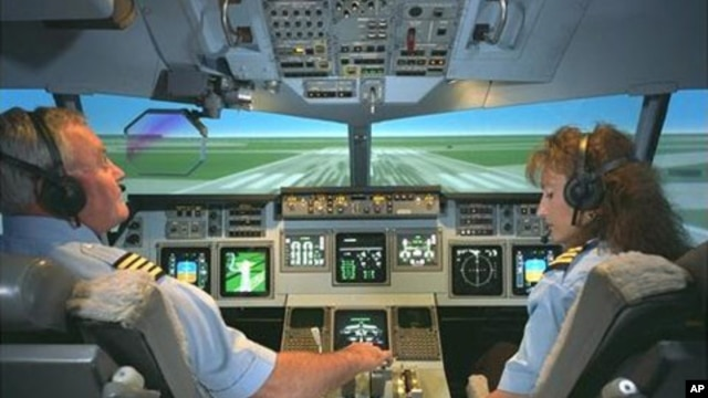 U.S. space agency simulators help prepare airplane pilots for crisis situations. But critics say they don't adequately replicate out-of-control situations.
