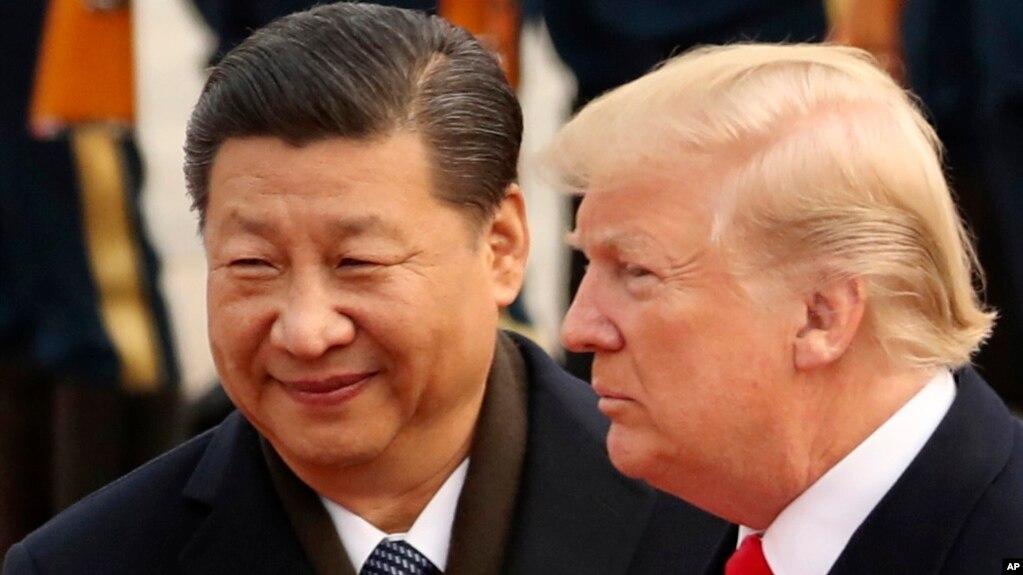 Tổng thống Trump trong cuộc gặp với Chủ tịch Tập Cận Bình ở Bắc Kinh năm 2017.