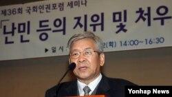 지난 2008년 국회인권포럼 세미나에서 인권상을 수상한 기독교사회책임 대표 서경석 목사. (자료사진)