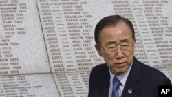Generalni sekretar UN Ban Ki-moon u Potočarima