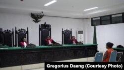 Rebecca Ledoh, terdakwa kasus TPPO 25 orang NTT, dihukum tujuh tahun penjara pada 2014 lalu. (Courtesy: Gregorius Daeng)