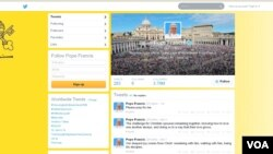 Pope Vatican tweets on his first anniversary
