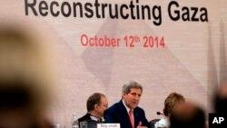 12일 가자지구 재건회의에 참석한 존 케리 미 국무장관