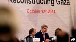 سخنرانی جان کری وزیر امور خارجه ایالات متحده در همایش بین المللی بازسازی غزه در قاهره، پایتخت مصر - ۲۰ مهر ۱۳۹۳