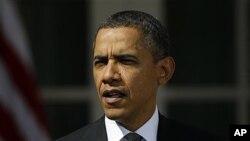 President Barack Obama in the Rose Garden, White House, Washington, D.C., March 13, 2012.