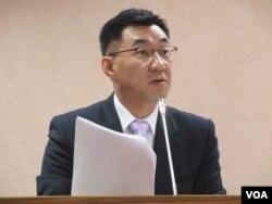 台湾国民党立委江启臣(VOA 美国之音张永泰拍摄)
