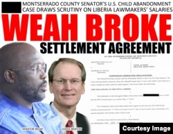 The Liberian online publication FrontPageAfrica reported that a court in the U.S. State of Georgia issued a warrant for Weah's arrest.