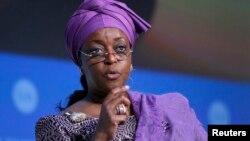 Mrs. Diezani Alison Madueke, tsohuwar ministar manfetur ta Najeriya wadda kotu ta sameta da laifin yin zarmiya da wawure dukiyar gwamnati