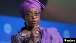 Diezani Alison Madueke, tsohuwar ministar man fetur ta Najeriya wadda ake zarki da wawure makudan kudade daga aljihun gwamnatin kasar