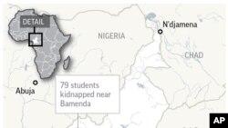 Los separatistas armados secuestraron al menos a 79 estudiantes y tres miembros del personal de una escuela presbiteriana en una región de habla inglesa con problemas de Camerún, dijo el lunes el gobernador.