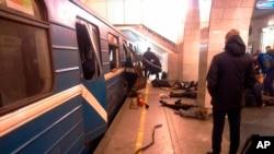 俄羅斯聖彼得堡星期一發生自殺炸彈爆炸