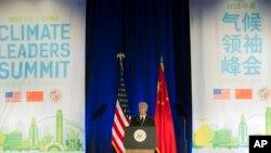 美国副总统拜登在洛杉矶召开的美中气候领导人峰会上讲话 (2015年9月16日)