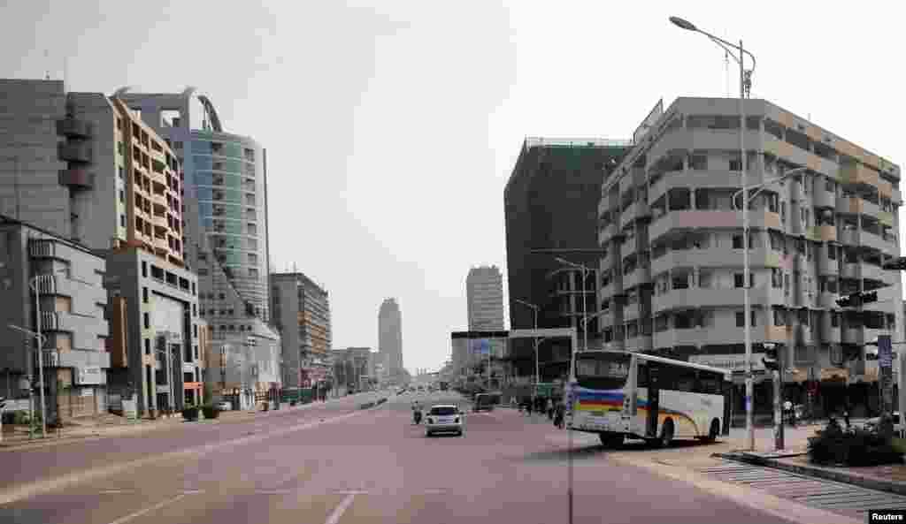 Dans les rues de Kinshasa, la capitale de la RDC, le 19 décembre 2016.