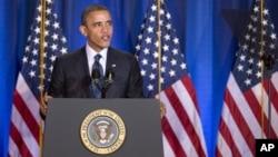 3일 미국 워싱턴 국방 대학에서 연설한 바락 오바마 미국 대통령.