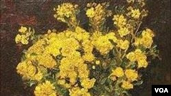 Lukisan van Gogh, Poppy Flowers.