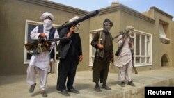 نیروهای طالبان در منطقه ای اعلام نشده