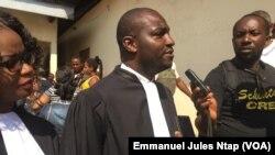 Maître Ntsoma Julien, avocat d'un journaliste poursuivi à Yaoundé, le 14 décembre 2018. (VOA/Emmanuel Jules Ntap)