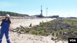 俄羅斯西伯利亞的一處油井