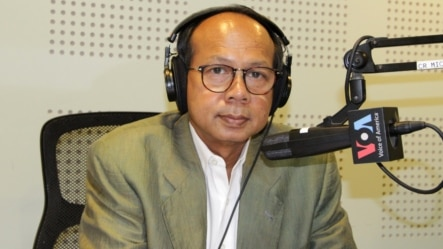 "Ok Serei Sopheak, a governance specialist, appeared on an edition of the ""Hello VOA"" radio show. (Lim Sothy/VOA Khm"
