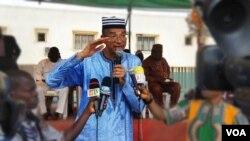 Lionel Zinsou à Cotonou pendant la campagne pour les présidentielles de 2016. (VOA)