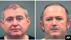 Saradnici Rudija Đulijanija Lev Palmas (levo) i Igor Fruman, na fotografijama koje je objavila kancelarija šerifa u Aleksandriji, koja ih je privela (Foto: AP/Alexandria Sheriff's Office)