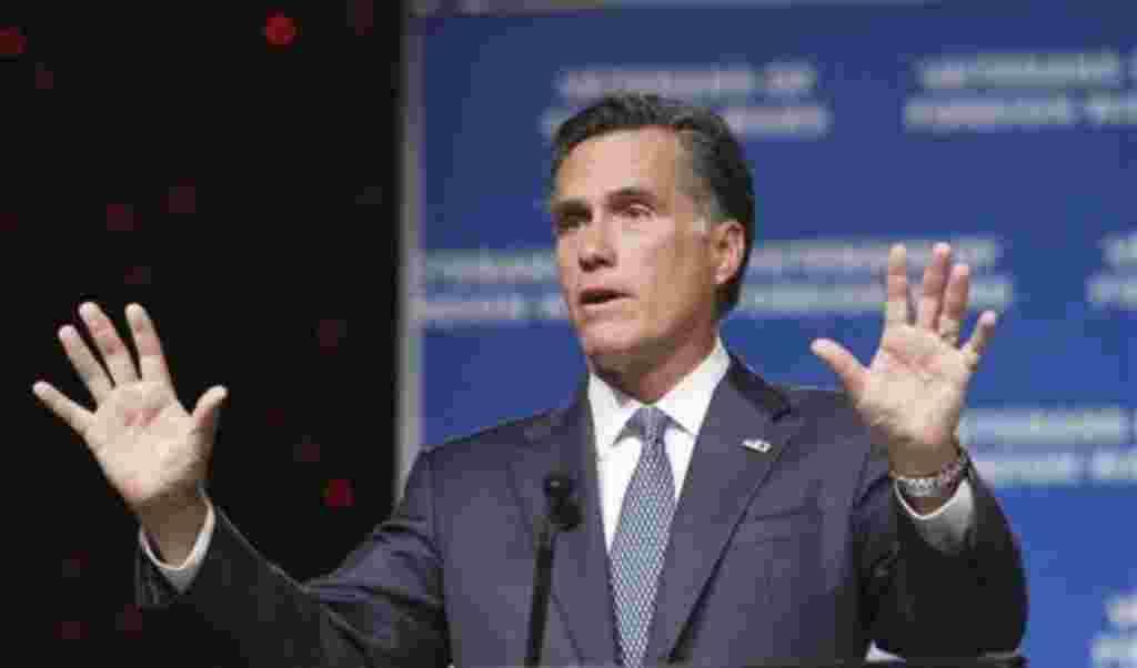 Mitt Romney, ex gobernador de Massachusetts.