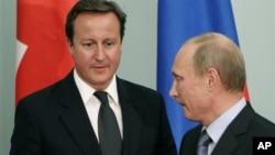 Дэвид Кэмерон и Владимир Путин (архивное фото)