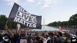 Cuộc tuần hành ở thủ đô Washington hôm 28/8/20, đánh dấu 57 năm ngày nhà lãnh đạo đấu tranh dân quyền Martin Luther King Jr đọc bài diễn văn lịch sử 'Tôi có một giấc mơ.'