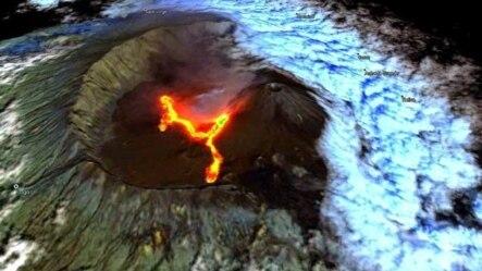 Imagem de satélite do Vulcão do Pico, Fogo (Saidy Andrade)