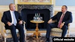 Türkiyənin XİN M.Çavuşoğlu və Azərbaycan prezidenti İlham Əliyev