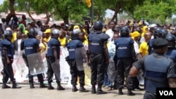 Anterior manifestação em Luanda