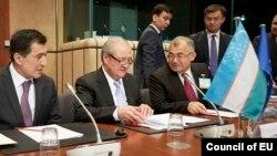 O'zbekiston delegatsiyasi Bryusselda Yevropa Ittifoqi rasmiylari bilan muloqot qilmoqda.