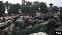 Sojojin birged din da ta kwato garin Bama daga hannun 'yan Boko Haram.