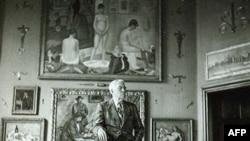 Альберт Барнс в одном из залов своей коллекции