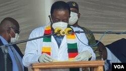 Mutungamiri wenyika, VaEmmerson Mnangagwa vagamuchira rubatsiro rwenhomba yeCOVAXIN kubva kuIndia.