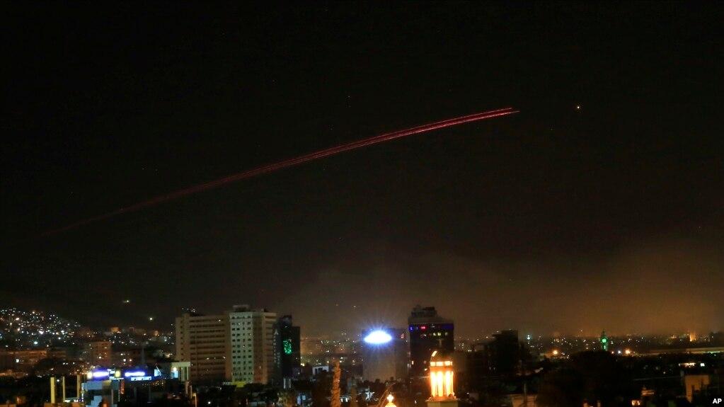Дамаск рано утром 14 апреля