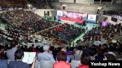 민족통일협의회 창설 35주년 기념 2016 민족통일 전국대회가 21일 서울 장충체육관에서 열렸다.