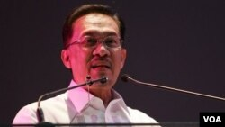 Pemimpin oposisi Malaysia, Datok Seri Anwar Ibrahim.