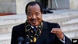 Le président du Cameroun, Paul Biya
