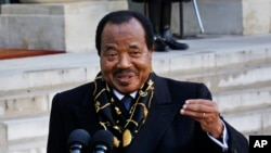 Rais Paul Biya, Jan 30, 2013.