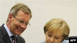 Christian Wulff ve Angela Merkel