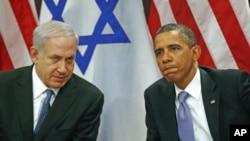 Prezident Barak Obama va Isroil Bosh vaziri Benyamin Netanyaxu, BMTdagi uchrashuv, 21-sentabr, 2011-yil.