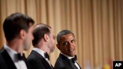 奥巴马总统在白宫记者晚宴上