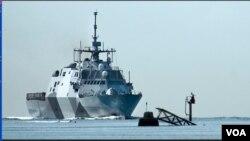 """美國海軍""""自由號""""近海戰鬥艦(美國海軍官方網頁圖片)"""