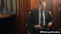 Российский министр иностранных дел Сергей Лавров