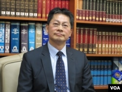 台湾外交部发言人李宪章 (美国之音张永泰拍摄)