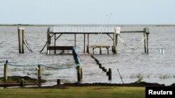 طوفان سے ایک روز قبل فلوریڈا کے ساحل کا ایک منظر