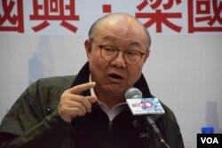 香港特首參選人胡國興。(美國之音湯惠芸)