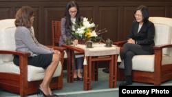 台灣總統蔡英文2019年11月8日接見美國醫師會訪問團(台灣總統府提供)